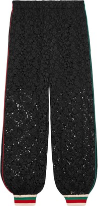 Gucci Floral Lace Loose-Fit Track Pants