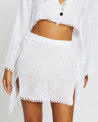 Love and Light The Label - Women's White Mini skirts - Carly Skirt - Size One Size, L at The Iconic