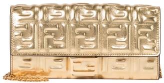 Fendi FF Baguette Small leather shoulder bag