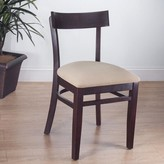 Quinto Solid Wood Wingback Side Chair Benkel Seating Frame Finish: Mahogany, Seat Finish: Black
