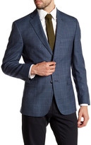 JB Britches Blue Glenplaid Two Button Notch Lapel Wool Sportcoat