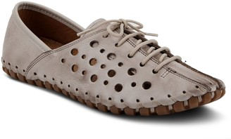 Spring Step Leather Lace Up Oxfords - Macaria