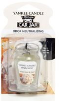 Yankee Candle simply home Car Jar Ultimate White Linen & Lace Air Freshener