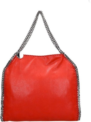 Stella McCartney Falabella Tote In Red Faux Leather