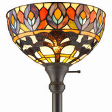 AMORA Amora Lighting AM1086FL12 Tiffany Style Peacock 1-light Torchiere Lamp