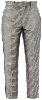 Racil Aries Cropped Moire-lame Trousers - Silver
