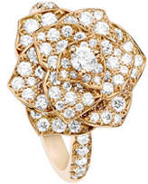Piaget Pavé Diamond Rose Ring in 18K Red Gold, Size 6