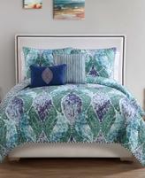 Victoria Classics Emerald Paisley 5-Pc. Reversible King Quilt Set