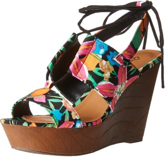 Qupid Women's Gimmick-30A Wedge Sandal