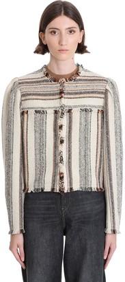 Etoile Isabel Marant Jizaya Casual Jacket In Beige Wool