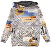 Molo Matty Hooded Fence Sweatshirt, Gray, Size 4-12