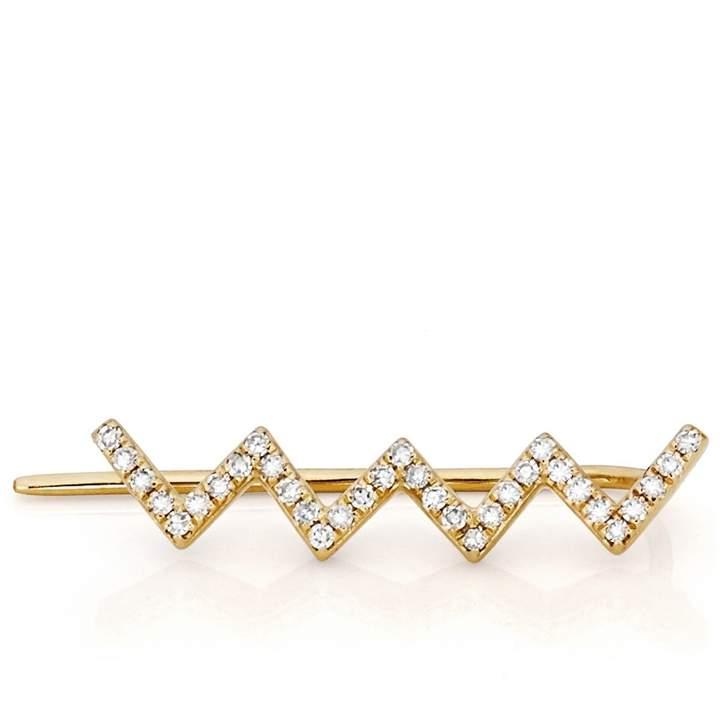 Ef Collection Diamond Zig Zag Ear Cuff for Right Ear