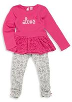 Petit Lem Baby Girl's Love Top & Legging Set