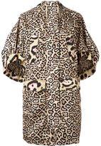 Givenchy oversize leopard print coat - women - Polyamide/Polyester/Acrylic - 40