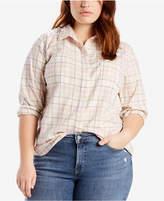 Levi's Plus Size Cotton Boyfriend Shirt