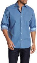 Bugatchi Classic Fit Checker Dress Shirt