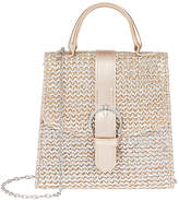 Monsoon Mixed Metallic Buckle Bag