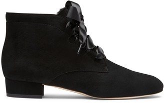 Alexis Isabel Raya Black Suede Ankle Boots