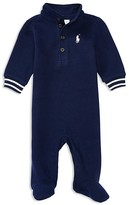 Ralph Lauren Infant Boys' French Ribbed Footie - Sizes 3-9 Months