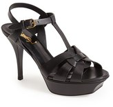 Saint Laurent Women's Tribute T-Strap Sandal