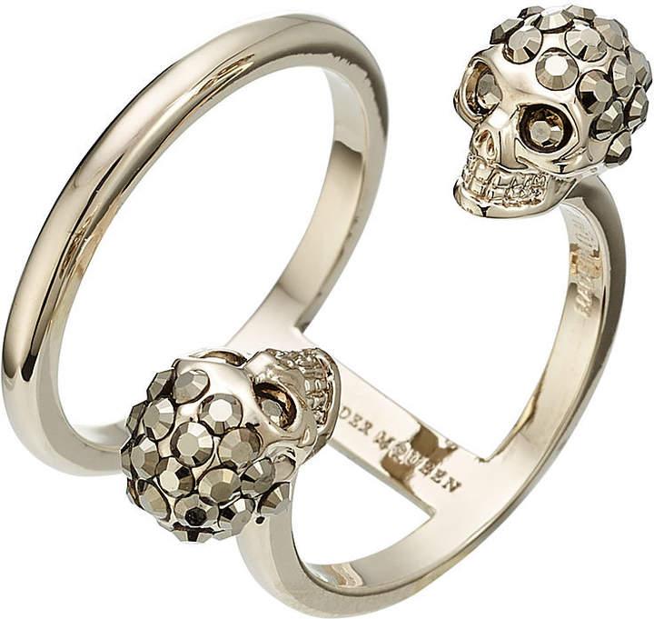 Alexander McQueen Embellished Skull Ring