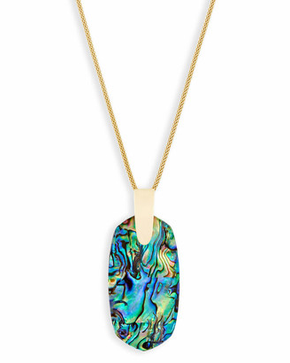 Kendra Scott Inez Long Pendant Necklace in Gold