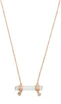 Jacquie Aiche Diamond, aquamarine & rose-gold necklace