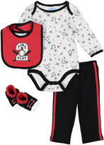 Bon Bebe Black & Red Baseball Bodysuit Set - Infant