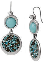 Kenneth Cole New York Pebble Beach Mixed Faceted Bead Round Double Drop Earring