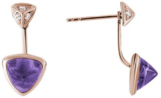 Diamond Select Cuts 14K Rose Gold 2.22 Ct. Tw. Diamond & Amethyst Earrings