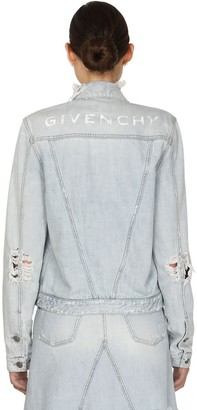 Givenchy Super Bleach Vintage Denim Jacket W/logo