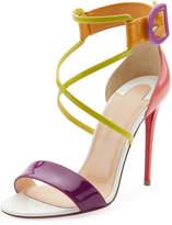 Christian Louboutin Choca Patent Red Sole Sandal
