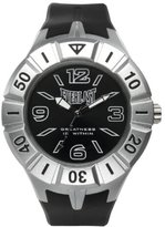 Everlast 33-217 Unisex Quartz Watch with Black Dial Analogue Display and Black Plastic or PU Strap EV-217-001