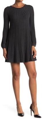 Max Studio Long Sleeve A-Line Sweater Dress