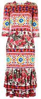 Dolce & Gabbana Mambo print peplum dress - women - Silk/Cotton/Spandex/Elastane - 44