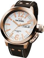 TW Steel Men's CE1017 CEO Canteen Brown Leather White Dial Watch