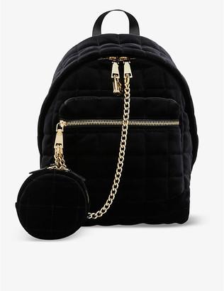 Sandro Jullian quilted velvet backpack