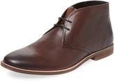 Ben Sherman Men's Round-Toe Leather Chukka Boot