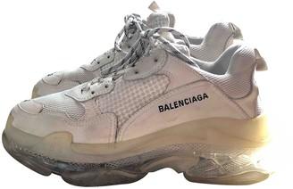 Balenciaga Triple S White Polyester Trainers