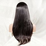 Dream Best Quality Indian Remy Human Hair Glueless Full lace Wigs with Baby Hair For Black Women (14, Natural Black Hair)