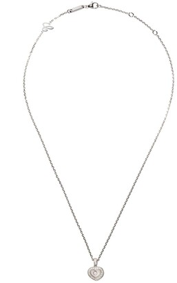 Chopard 18kt white gold Happy Hearts diamond pendant necklace