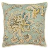 Rose Tree Odessa Floral Square Throw Pillow in Teal