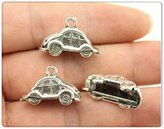 Nobrand No brand 5pcs 23*15mm antique silver plated 3d car charms