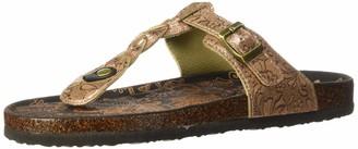 Muk Luks Women's Marsha Terra Turf-Bronze Sandal 6 M US
