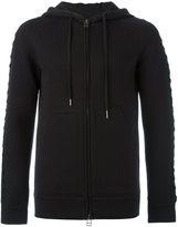 Helmut Lang lace sleeve zip hoodie