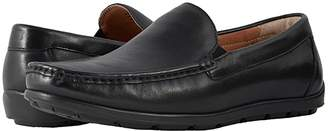 Florsheim Draft Moc Toe Venetian Driver (Black Smooth) Men's Slip on Shoes