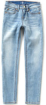 7 For All Mankind Big Girls 7-14 The Skinny Light-Wash Whiskered Sanded Jeans