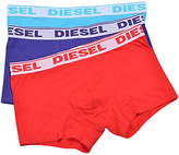 Diesel Stretch Cotton Plain Trunks, Pack Of 3, Red/purple/blue