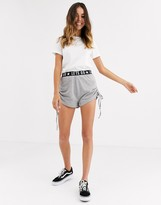 Brave Soul jersey shorts with elasticated waist in grey marl