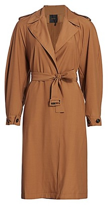 Agnona Water Repellent Trench Coat